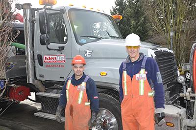 Edenflo commercial pump truck employees